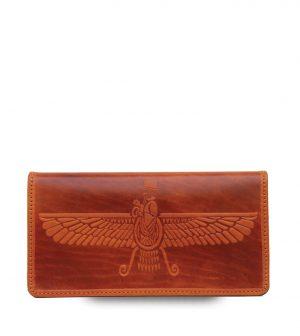 کیف پول چرم طبیعی مدل 15115a