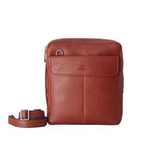 کیف دوشی چرم طبیعی لاک بگ
